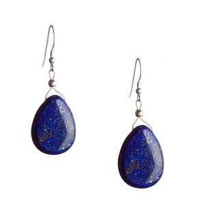 Stříbrné náušnice Lapis Lazuli