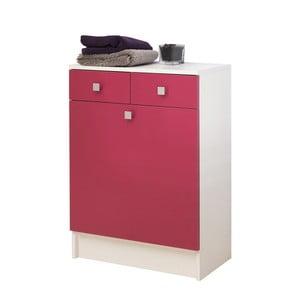 Růžová koupelnová skříňka na prádelní koš Symbiosis André,šířka60cm