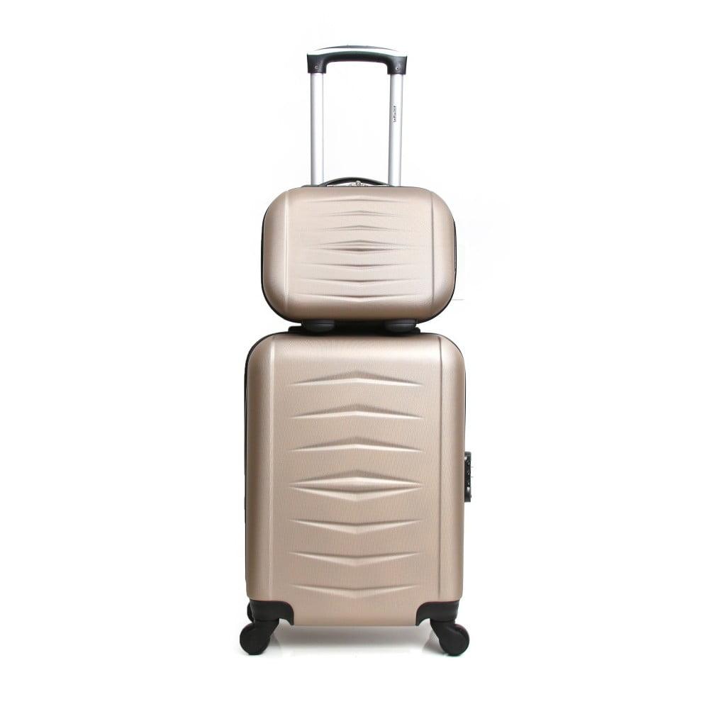 Sada 2 cestovních kufrů ve zlaté barvě na kolečkách ve zlaté barvě Infinitif Oviedo