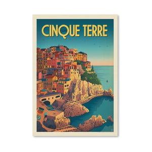 Plakát Americanflat Cinque Terre, 42 x 30 cm