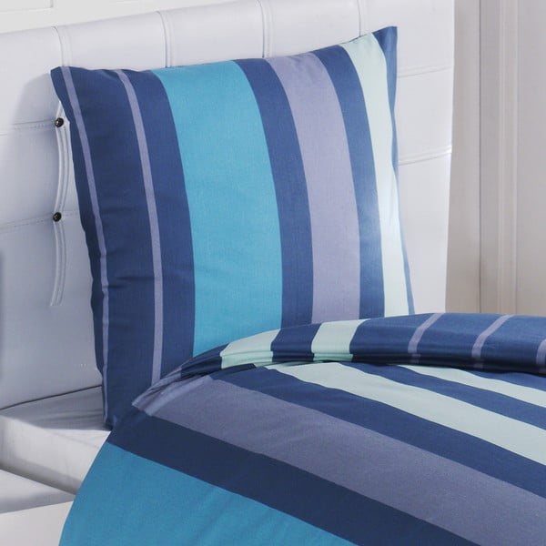 Povlečení s polštářem Dark Blue, na jednolůžko, 135x200 cm