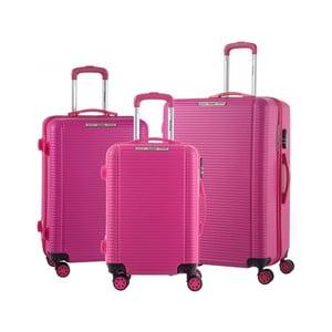 Sada 3 růžových cestovních kufrů na kolečkách Murano Vivienne