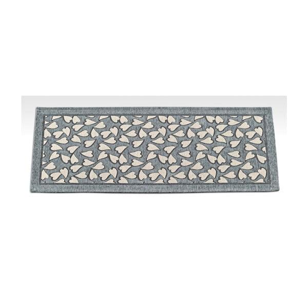 Šedý vysoce odolný kuchyňský koberec Webtappeti Corazon,55x240cm
