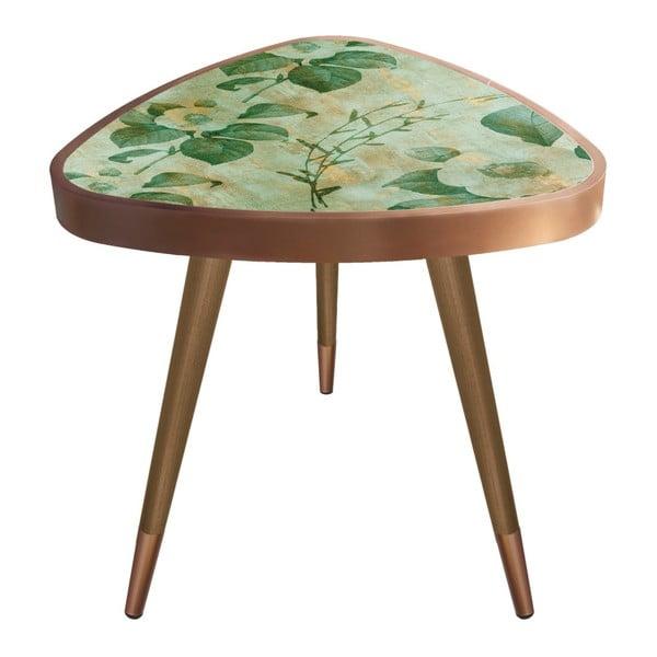 Príručný stolík Maresso Marbling Triangle, 45 × 45 cm