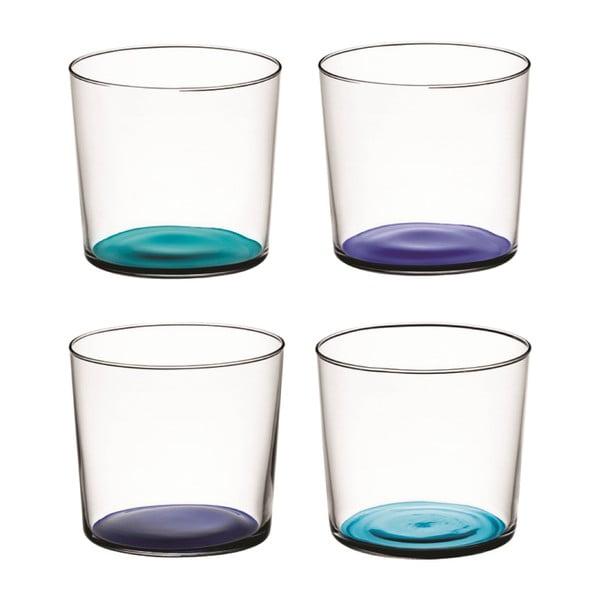 Coro Blue, nízká sklenice, sada 4 ks