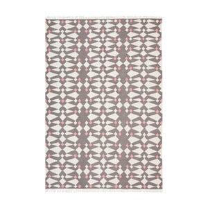Šedý ručně tkaný vlněný koberec Linie Design Andria,140x200cm