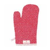 Červená kuchyňská rukavice Green Gate Dot