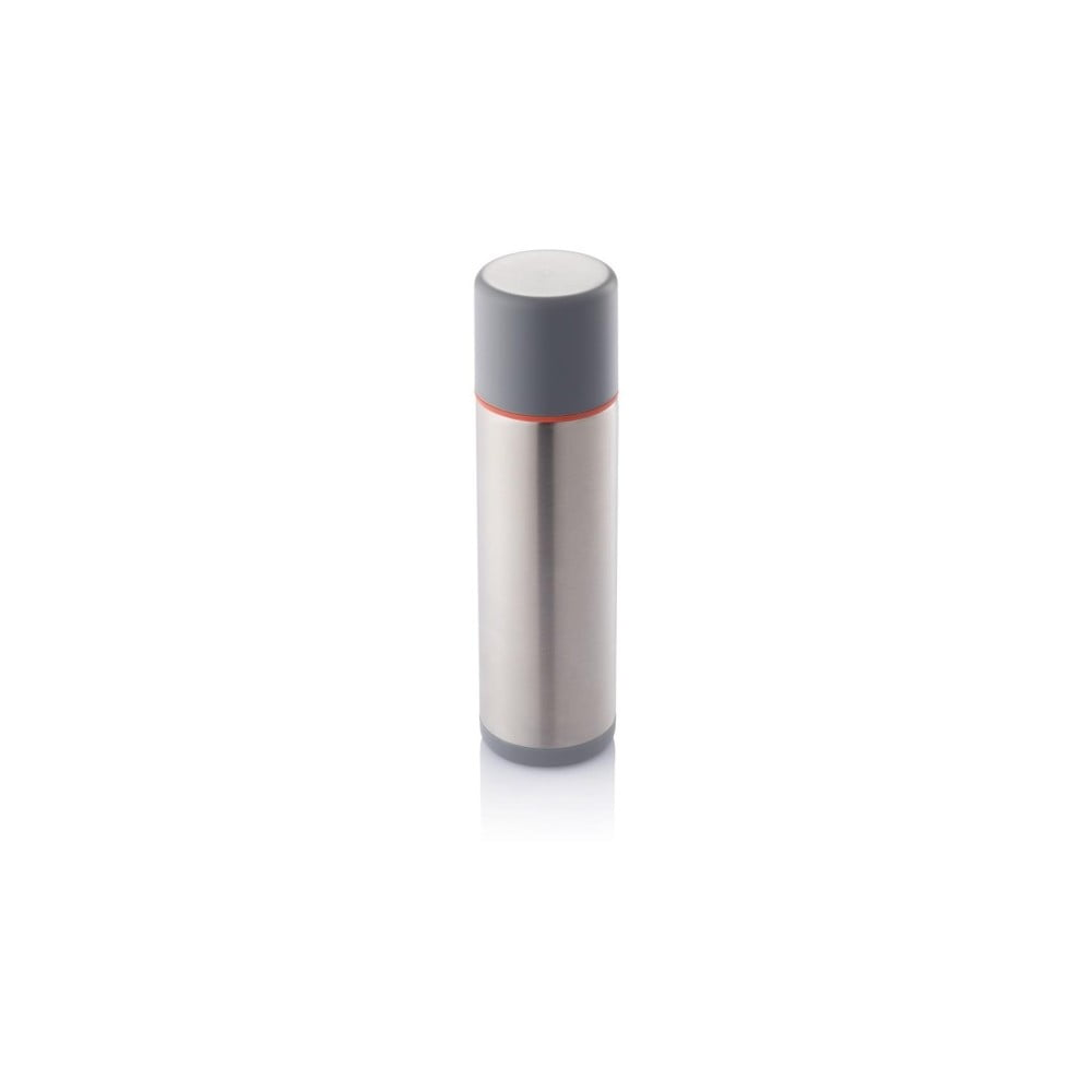 Stříbrno-červená termoska XD Design Torre, 500 ml