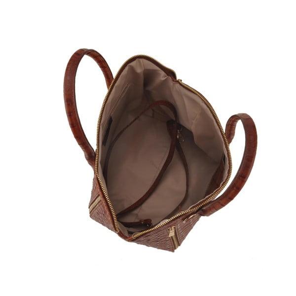 Kožená kabelka Emilio Masi Nunki, hnědá