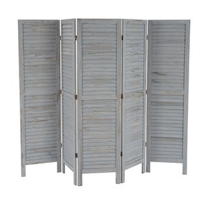 Paravan Shabby 228 cm, šedý