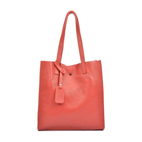 Červená kožená kabelka Isabella Rhea Mirko