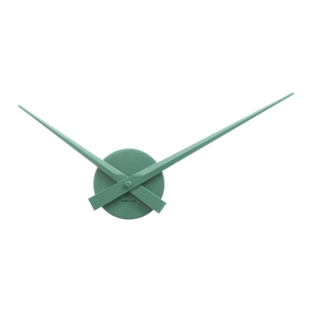 Zelené nástěnné hodiny Karlsson Time Mini, Ø 44 cm