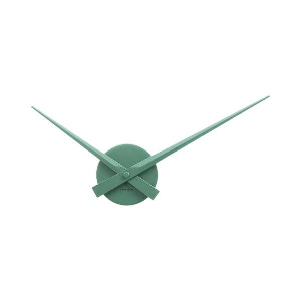 Zelené nástěnné hodiny Karlsson Time Mini, ø44 cm