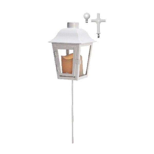 Bílá LED zahradní lucerna s vyměnitelným vrškem Best Season Ball
