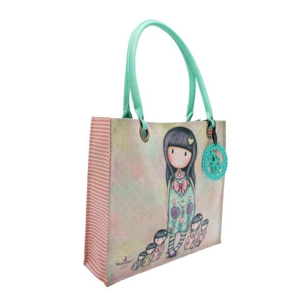 Modrá nákupní taška do ruky nebo na rameno Santoro London Sisters