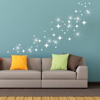 Set autocolante Ambiance White Star cu elemente Swarovski , 50 buc.