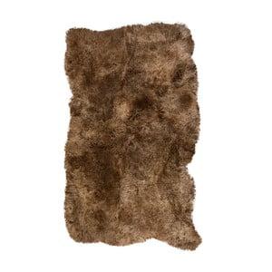 Covor din blană cu fir scurt Darte, 170 x 110 cm, maro