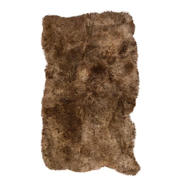 Covor din blană cu fir scurt Darte, 120x180cm, maro
