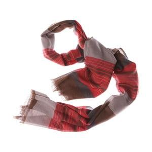 Šátek Bold Stripe Brown, 180x70 cm