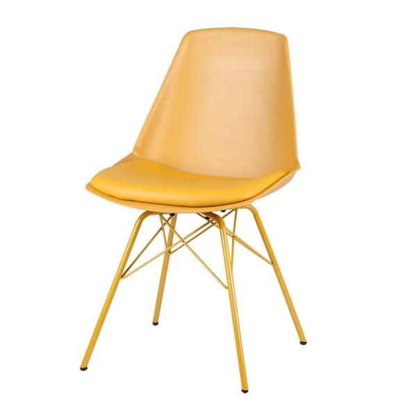 Set 4 scaune Sømcasa Tania, galben