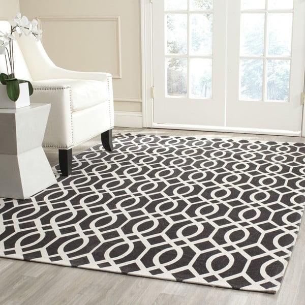 Černý koberec Safavieh Salvano, 182x121cm