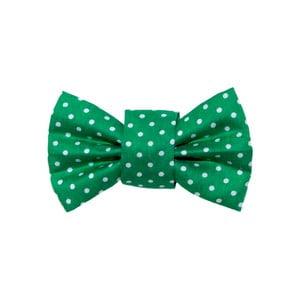 Zelený charitativní psí motýlek s puntíky Funky Dog Bow Ties, vel. S