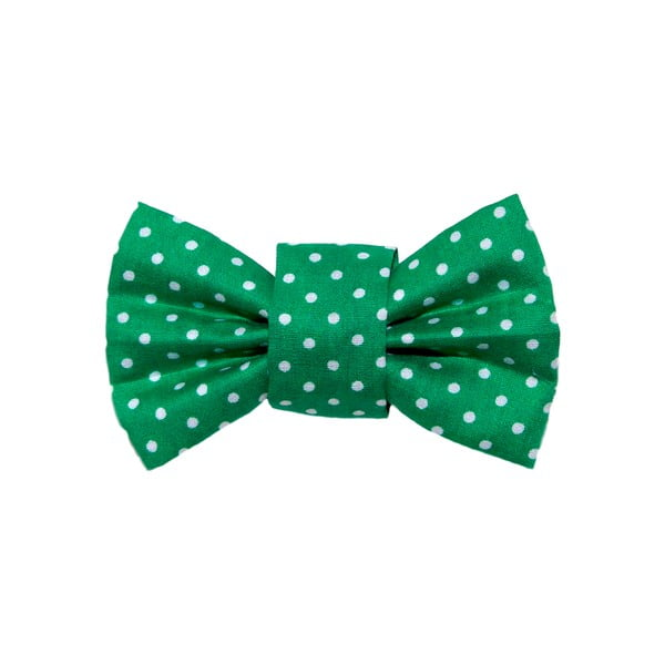 Zelený charitativní psí motýlek s puntíky Funky Dog Bow Ties, vel. M