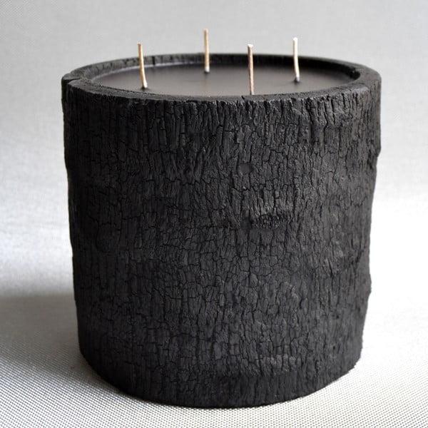 Palmová svíčka Legno Dark s vůní vodního květu, 180 hodin hoření
