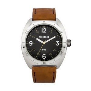 Pánské hodinky Firetrap Gents Brown Strap/Black Dial, 39 mm