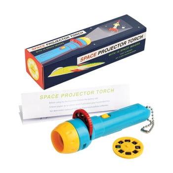 Lanternă de buzunar cu proiecții cu model spațial pentru copii Rex London, 16 imagini