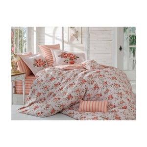 Lenjerie de pat cu cearșaf Florai, 200 x 220 cm