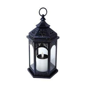 LED solární lucerna Warm 36 cm, černá
