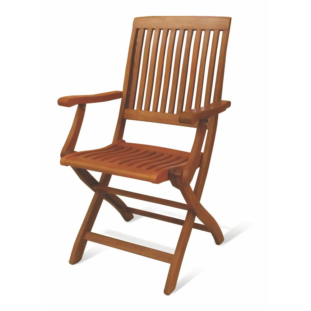 Sada 2 skládacích židlí z eukalyptového dřeva Crido Consulting Eucalypt
