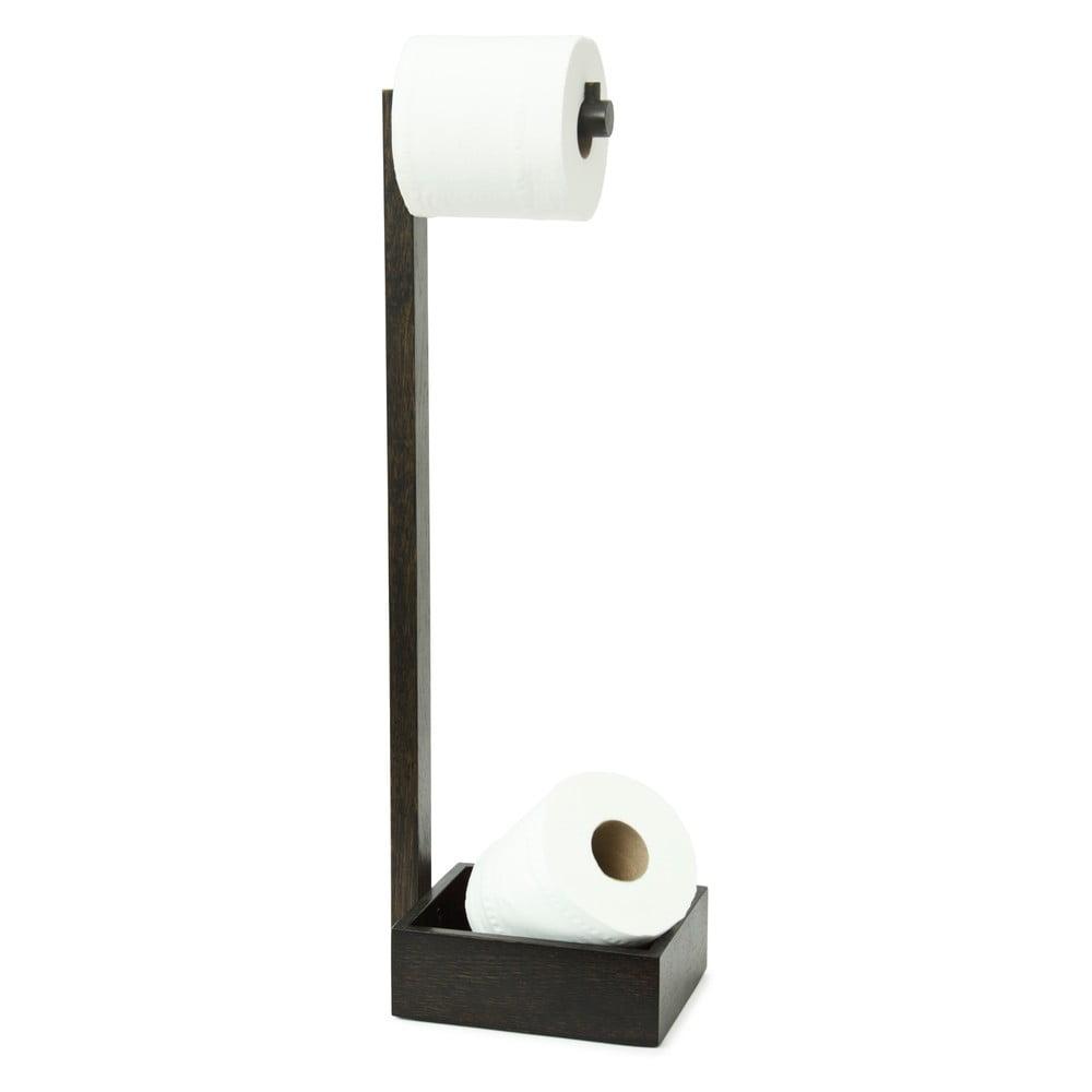 Dřevěný stojan na toaletní papír Wireworks Mezza Dark