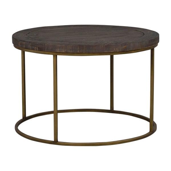 Hnědý dřevěný konferenční stolek Rowico Lato