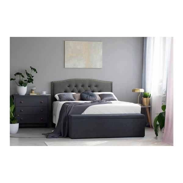 Stříbrno-šedé čelo postele Mazzini Sofas Anette, 200 x 120 cm