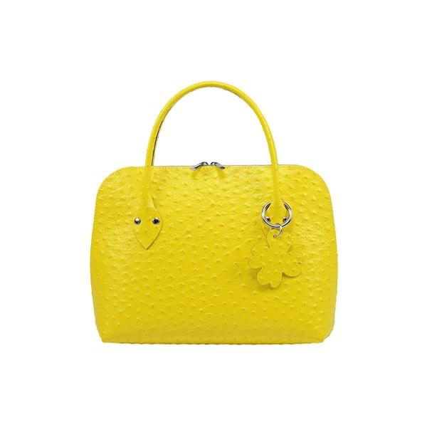 Kožená kabelka Eva Media Yellow