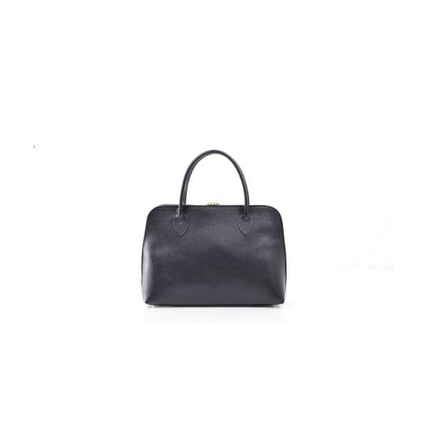 Kožená kabelka Dominique, černá