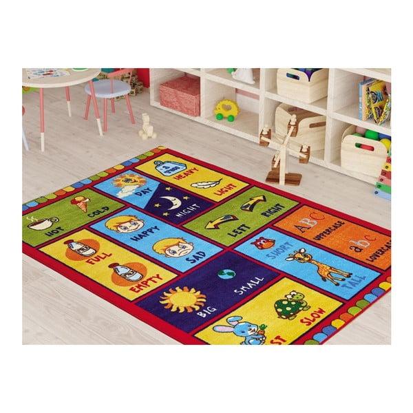 Dětský koberec Opposites Red, 290 x 200 cm