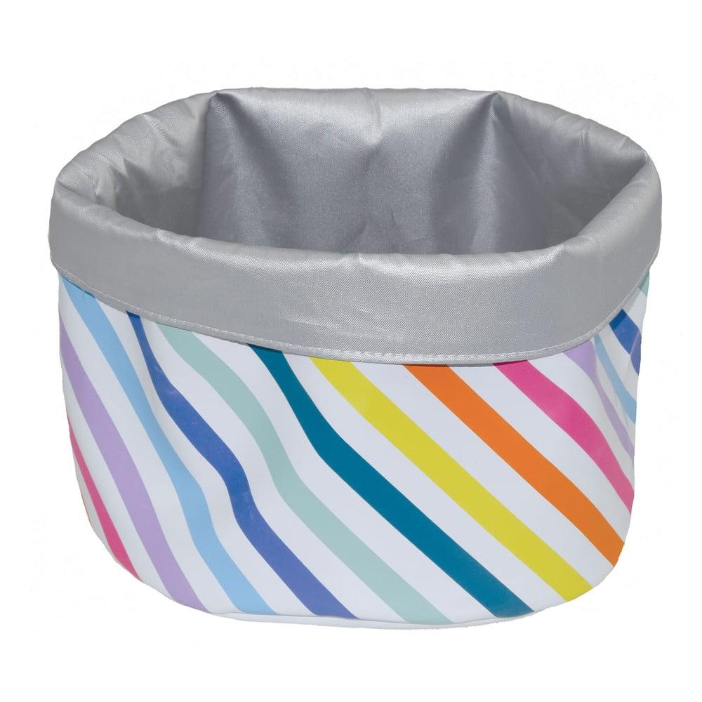 Úložný košík Incidence Technicolor Stripes, výška17cm