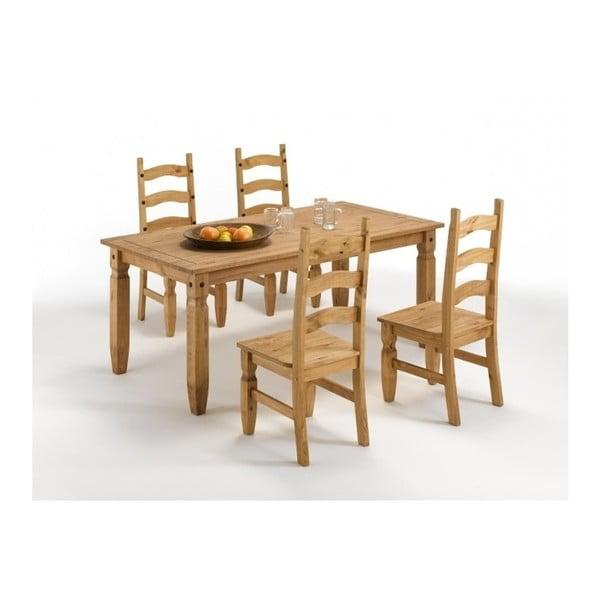Sada 2 jídelních židlí z masivního borovicového dřeva SOB Mexiko