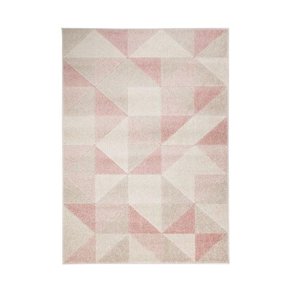 Różowy dywan Flair Rugs Urban Triangle, 100x150 cm