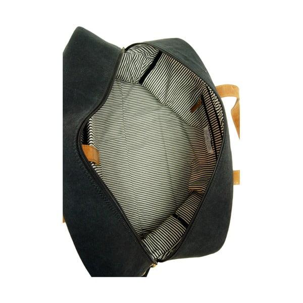 Černá kožená taška O My Bag The Weekender