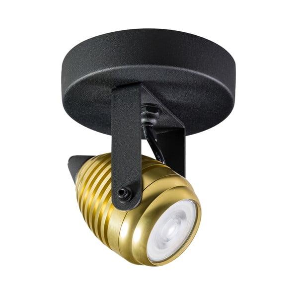 Kinkiet/lampa sufitowa w czarnym i złotym kolorze ETH Wasp Uno