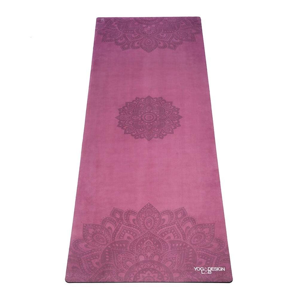 Růžová podložka na jógu Yoga Design Lab Travel Mat Mandala, 900 g