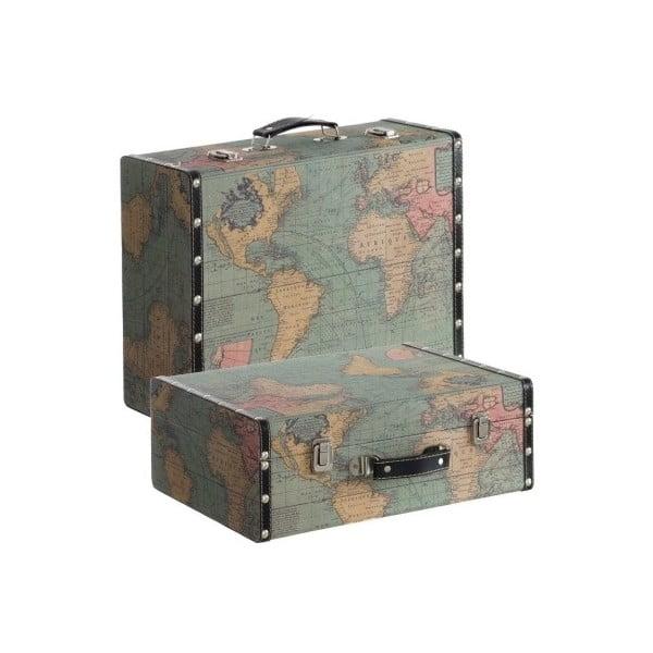 Sada 2 kufrů Cosas de Casa Mapa světa