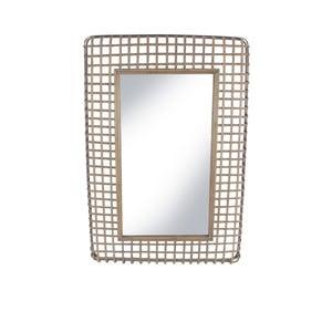 Zrcadlo v ratanovém rámu Red Cartel Square, 63 x 92 cm
