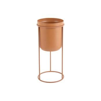 Ghiveci metalic pentru podea PT LIVING Tub, înălțime 32 cm, maro caramel