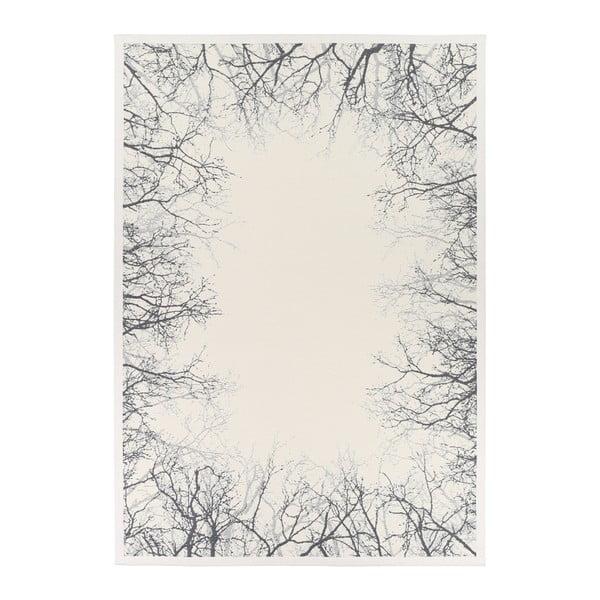 Covor reversibil Narma Pulse White, 80 x 250 cm, alb