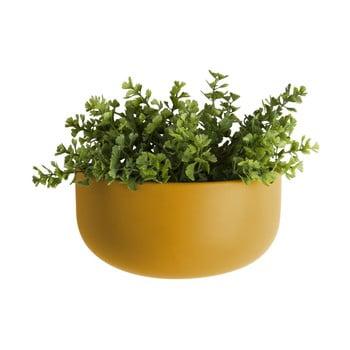 Ghiveci suspendat din ceramică PT LIVING Nest, galben ocru mat